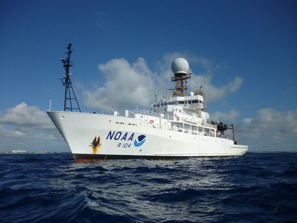Scientists on NOAA's Ronald H. Brown ship will launch weather balloons up to eight times a day in the eastern tropical Pacific Ocean to help study the current El Niño.