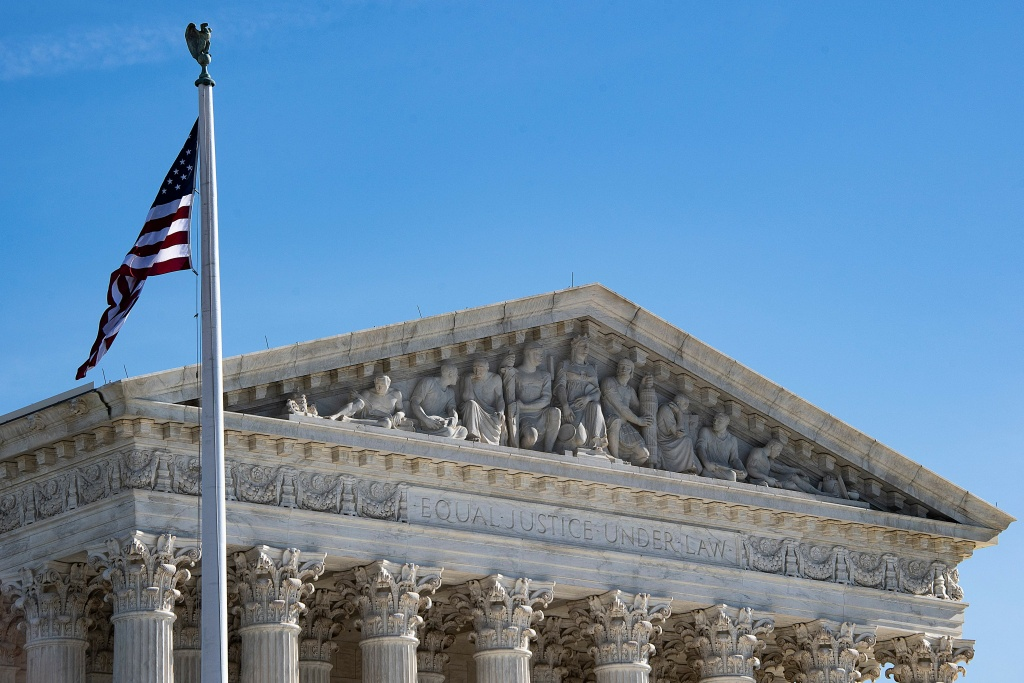 The US Supreme Court in Washington, DC, on January 22, 2019. - The US Supreme Court on Tuesday allowed US President Donald Trump's restrictions on transgender military service to take effect pending the outcome of litigation on the sensitive issue. The White House had asked the Supreme Court to intervene after lower courts prohibited Trump's administration from implementing the controversial restrictions. (Photo by Jim WATSON / AFP)        (Photo credit should read JIM WATSON/AFP/Getty Images)