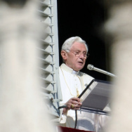 "Pope Benedict XVI leads prayers on Nov. 27, 2011, in St. Peter's Square at the Vatican. The leader of the world's Roman Catholic Church called for a ""responsible, credible and united response"" to the problem of climate change. But in the U.S. at least, st"