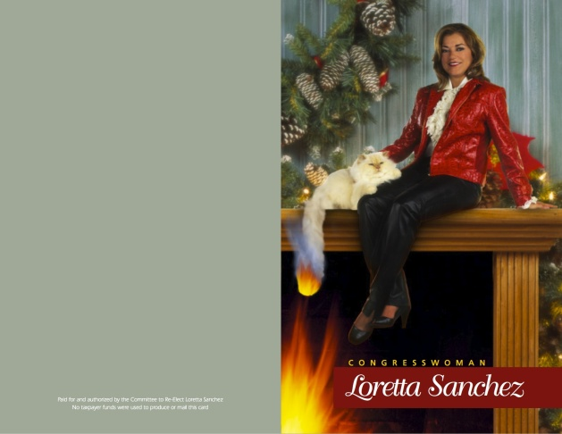 Congresswoman Loretta Sanchez's holiday card, 2010