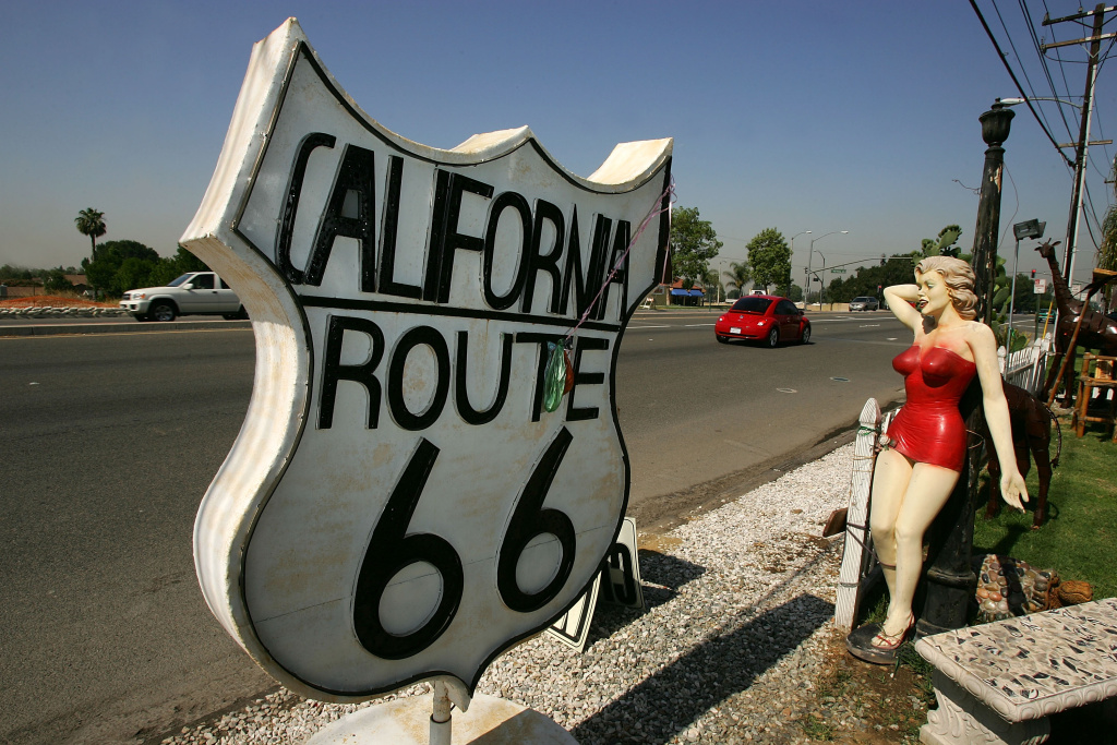 A Marilyn Monroe statue stands along old Route 66 on June 15, 2007 in Rancho Cucamonga, California.