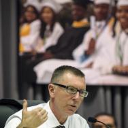 Los Angeles Unified School District Superintendent John Deasy in a photo taken last year. Deasy stepped down as head of the district on Thursday after a controversial tenure.