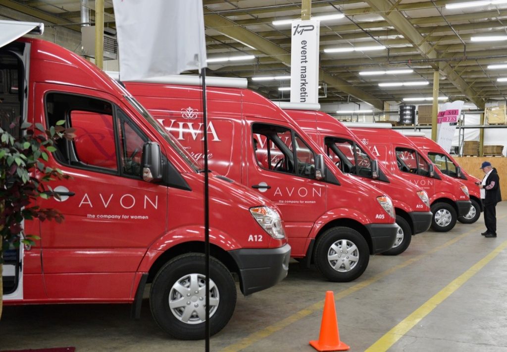 Vans lined up as Avon Kicks off SAY YES TO AVON BEAUTY on Jan. 11, 2013 in Columbus, Ohio.