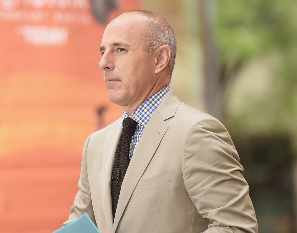 Co-host Matt Lauer appears on NBC's