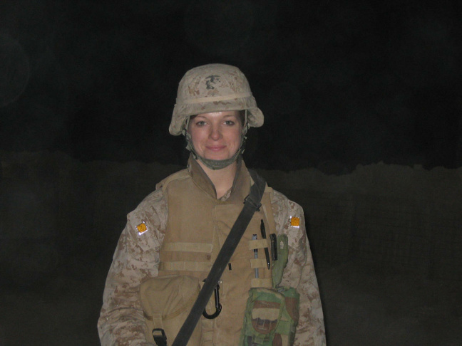 Theresa Larson struggled with bulimia while in the Marines in Iraq.