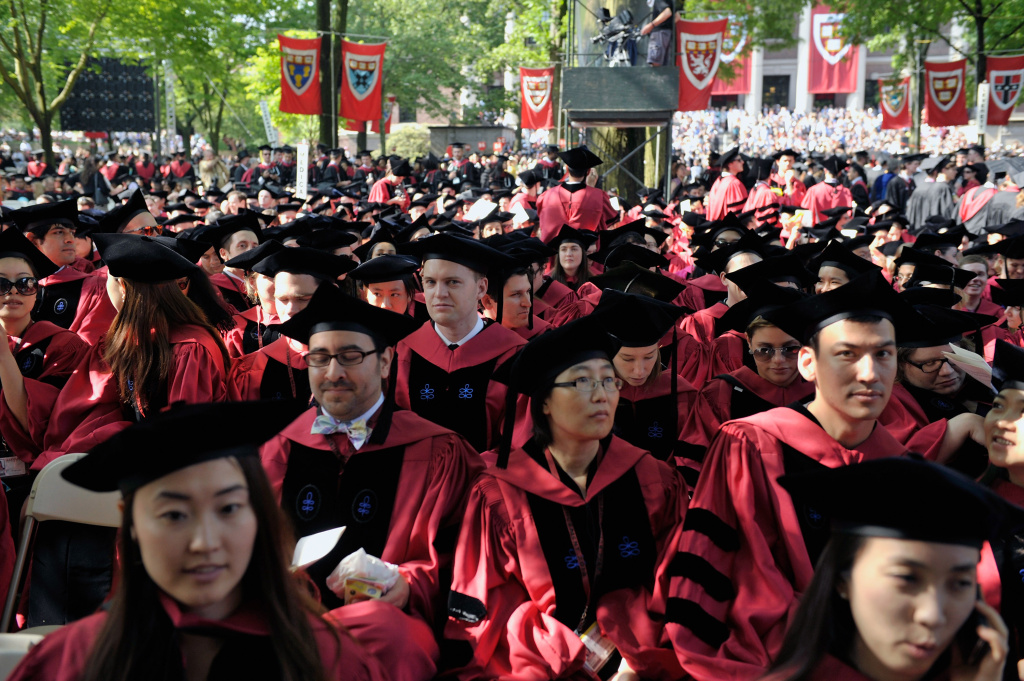 General atmosphere at 2013 Harvard University 362nd Commencement  Exercises at Harvard University on May 30, 2013 in Cambridge, Massachusetts.