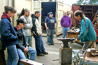 Adam's Forge president Heather McLarty teaching a class.