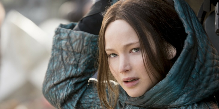 Jennifer Lawrence as Katniss Everdeen in the final