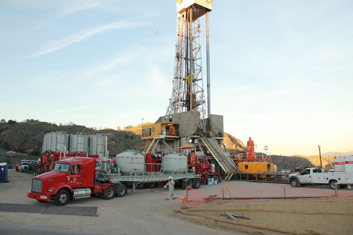 An image provided by SoCalGas with the announcement that it has begun the process of permanently sealing the leaking well at the Aliso Canyon storage facility.