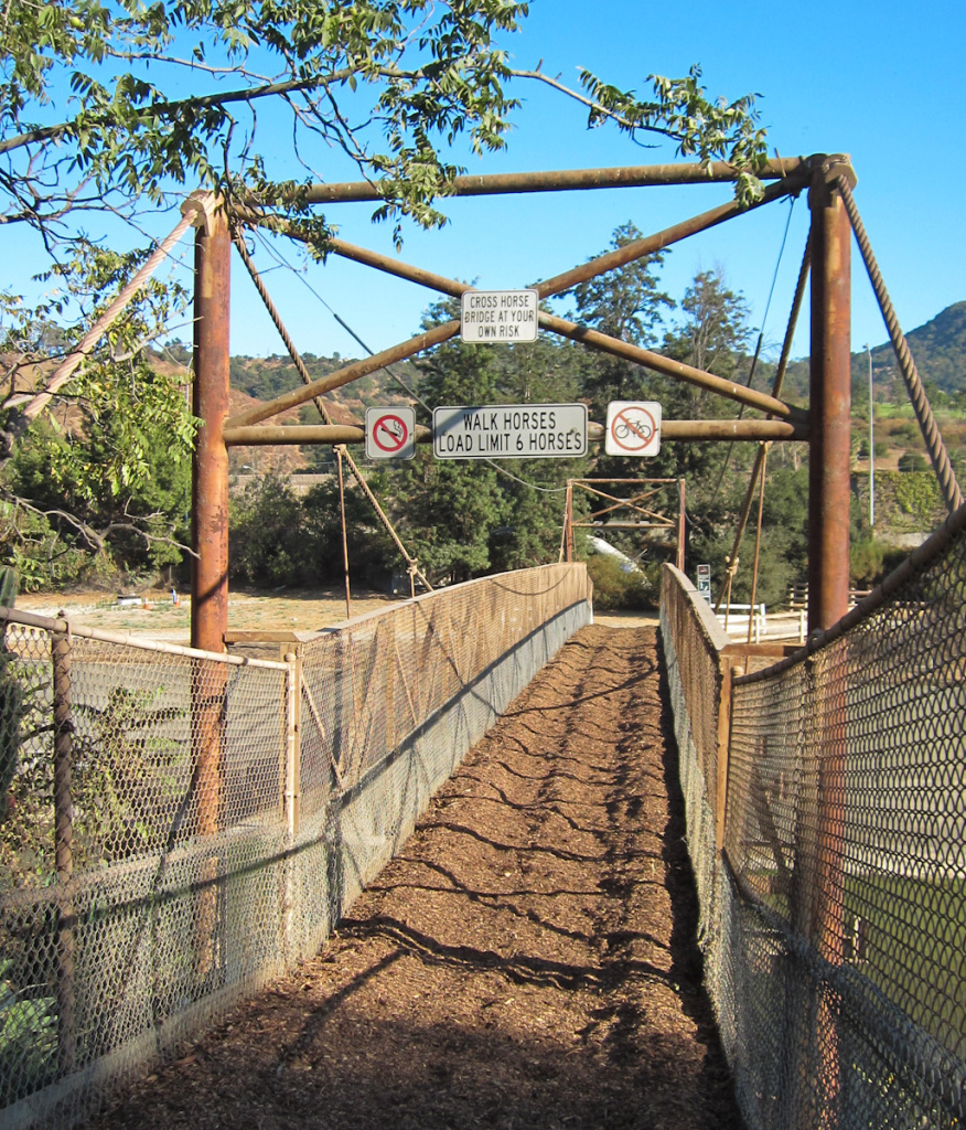 The 7-foot wide Mariposa Street Bridge was built in 1939, connecting stables in Burbank with Griffith Park.