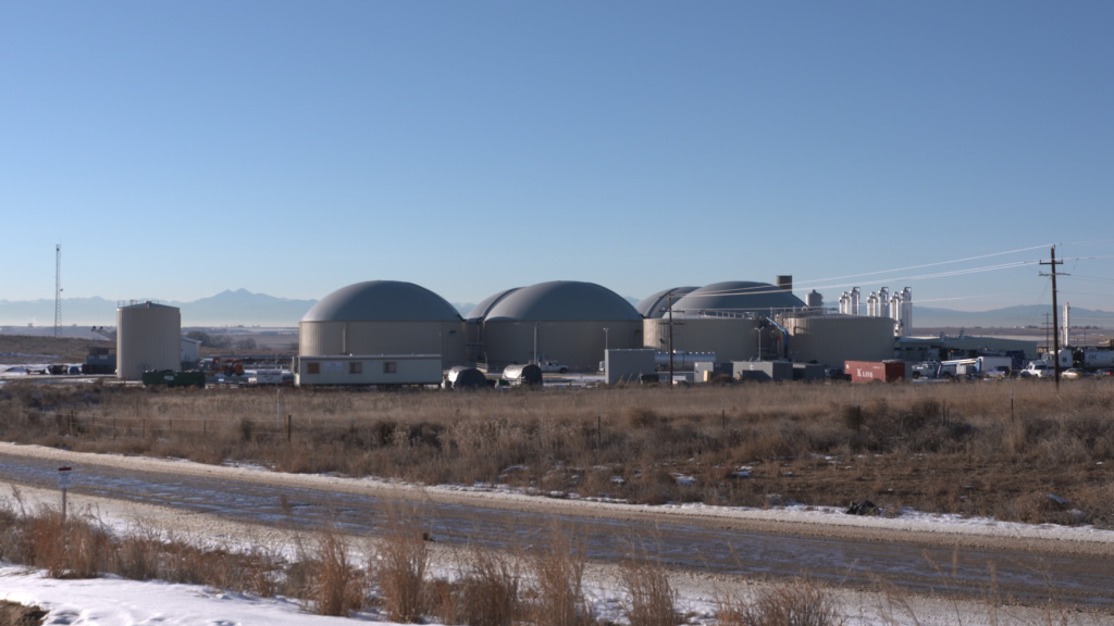 The Heartland Biogas facility in Weld County, Colo., is one of the country's largest waste treatment plants that converts methane to natural gas.