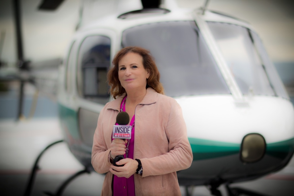 Zoey Tur, the former macho chopper pilot Bob Tur, is back in the air and on the air as America's first transgender TV reporter, working this month for Inside Edition.