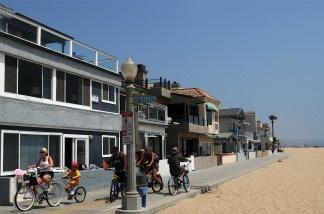 View of Balboa beach one of the popular beaches of Newport Beach, California.