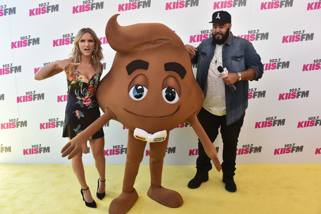 Chelsea Briggs, a character from The Emoji Movie, and Chuey attend 102.7 KIIS FM's 2017 Wango Tango at StubHub Center on May 13, 2017 in Carson, California.
