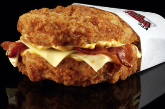 KFC's double-down sandwich.
