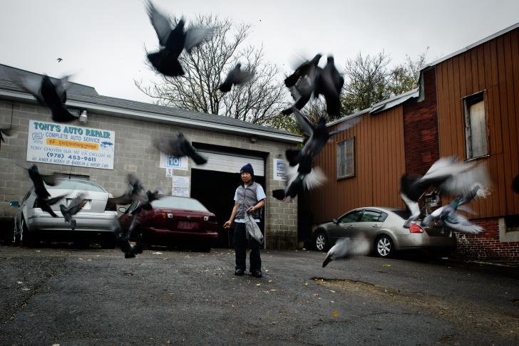 Shorty, 28, shows his Killing Field's tattoo, Philadelphia, PA Apr. 2011.