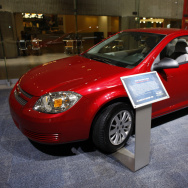 A 2010 Chevrolet Cobalt coupe sits on display at General Motors headquarters in Detroit in 2009.