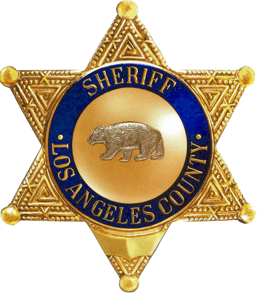 An L.A. County Sheriff's Department badge.
