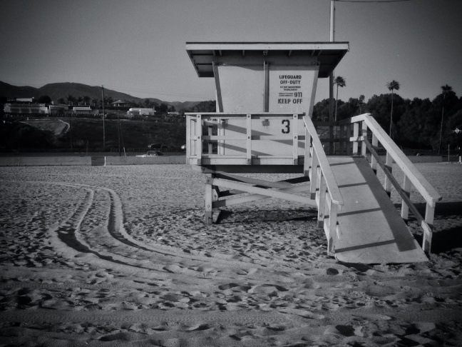 Lifeguard tower 3, Zuma Beach, Malibu
