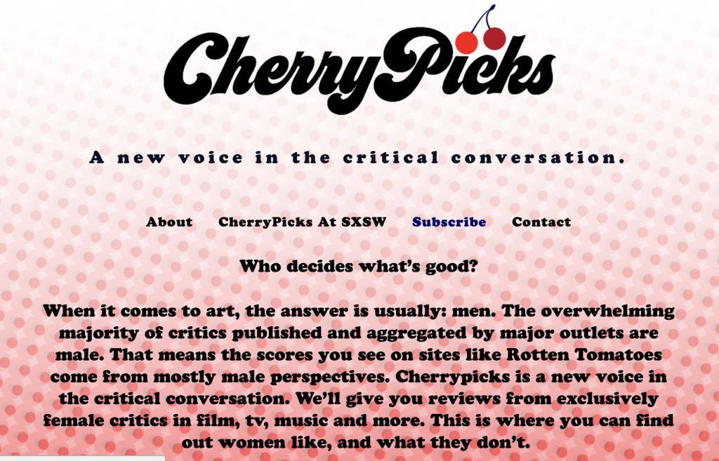 A screenshot of CherryPicksReviews.com