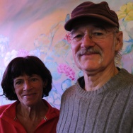 Alaskans Atz and Bonnie Kilcher, at the 2 Sisters Cafe, Homer, Alaska, USA