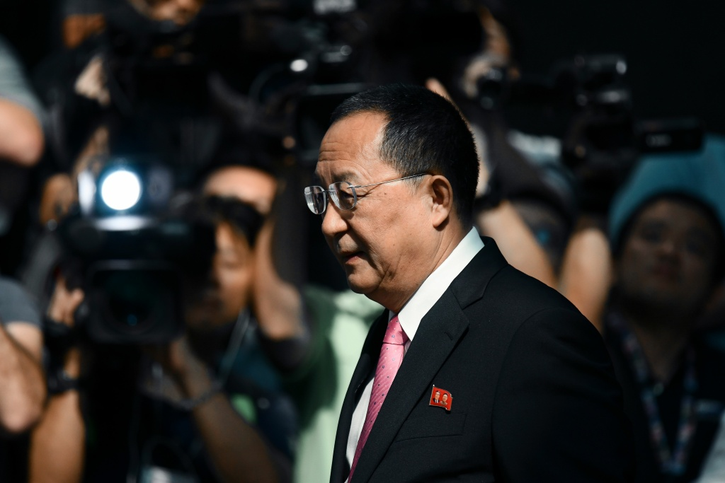 North Korean Foreign Minister Ri Yong-ho leaves his hotel in New York on September 25, 2017.   US President Donald Trump has