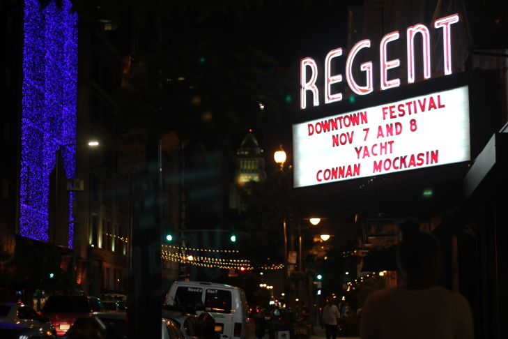 The sign at downtown LA's Regent theater