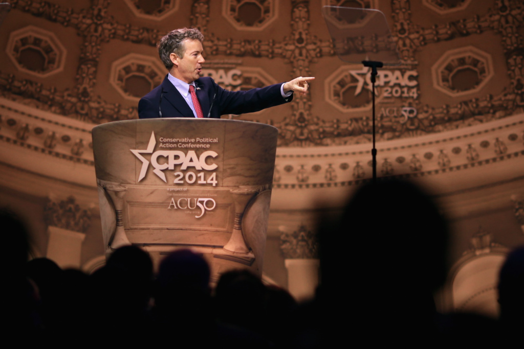 Sen. Rand Paul (R-KY) addresses the Conservative Political Action Conference at the Gaylord International Hotel and Conference Center March 7, 2014 in National Harbor, Maryland. The CPAC annual meeting brings together conservative politicians, pundits and their supporters for speeches, panels and classes.