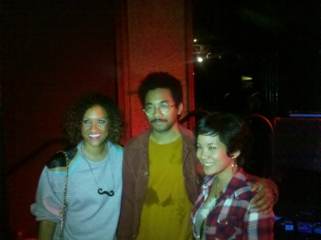 Toro Y Moi poses with fans after his W performance