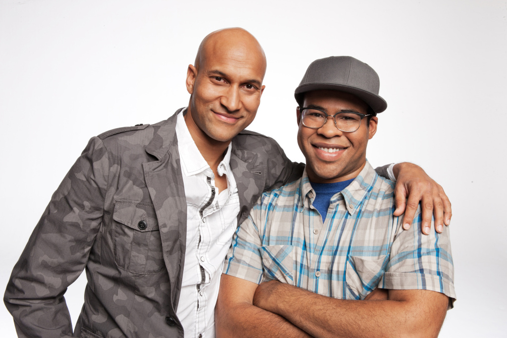 This undated image released by Comedy Central shows Keegan-Michael Key, left, and Jordan Peele from the sketch comedy series