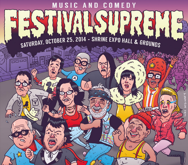 Part of the Festival Supreme 2014 poster.