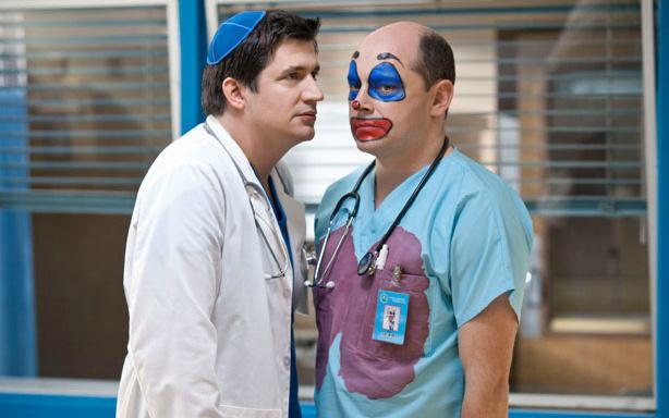 Actors Ken Marino (L) and Rob Corddry (R) on season three of Childrens Hospital