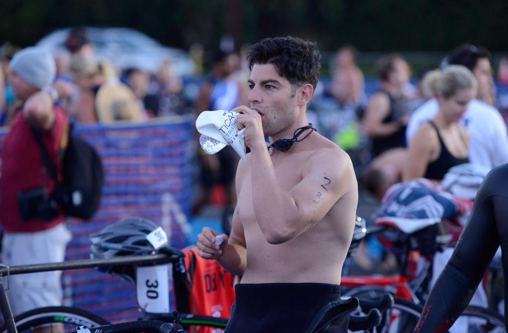 Actor Max Greenfield attends the Nautica Malibu Triathlon Presented by Equinox at Zuma Beach on Sept. 14, 2014 in Malibu.