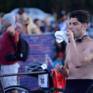 Actor Max Greenfield attends the Nautica Malibu Triathlon Presented by Equinox at Zuma Beach on Sept. 14, 2014 in Malibu.