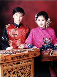 Composer Zhiming Han and musician Cynthia Hsiang.