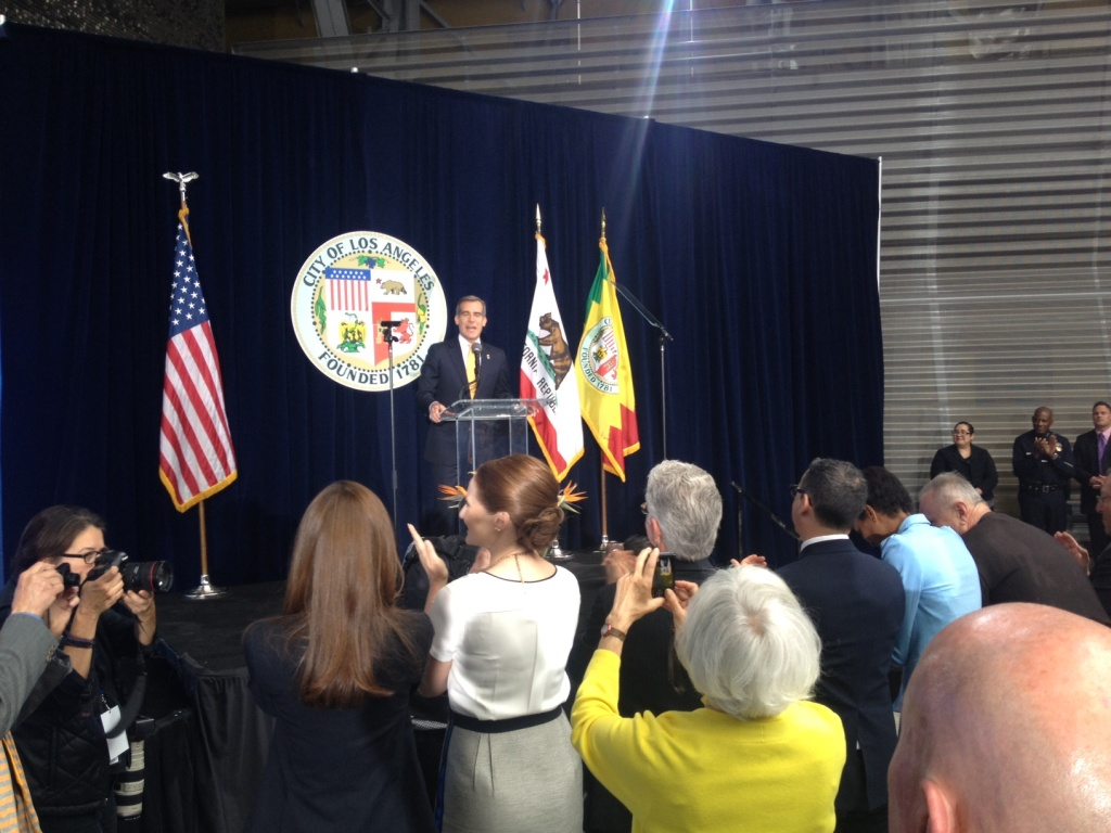 Mayor Eric Garcetti didn't have anything to say about the 2020 Commission's report in his State of the City speech.