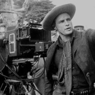 "Marlon Brando on the set of ""One Eyed Jacks."""