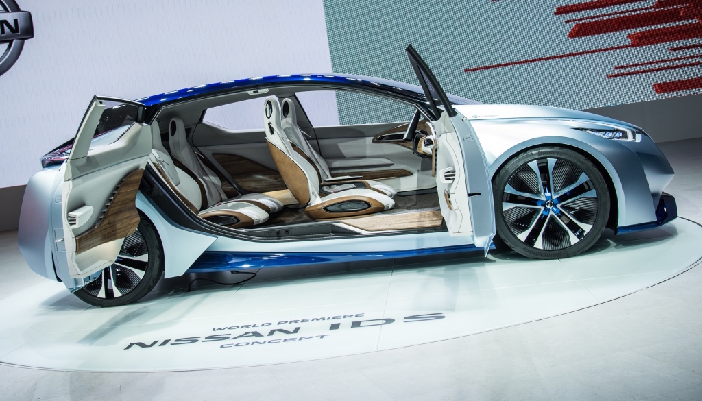 Nissan's IDS concept promises zero emissions, and the choice between manual and fully autonomous driving modes.