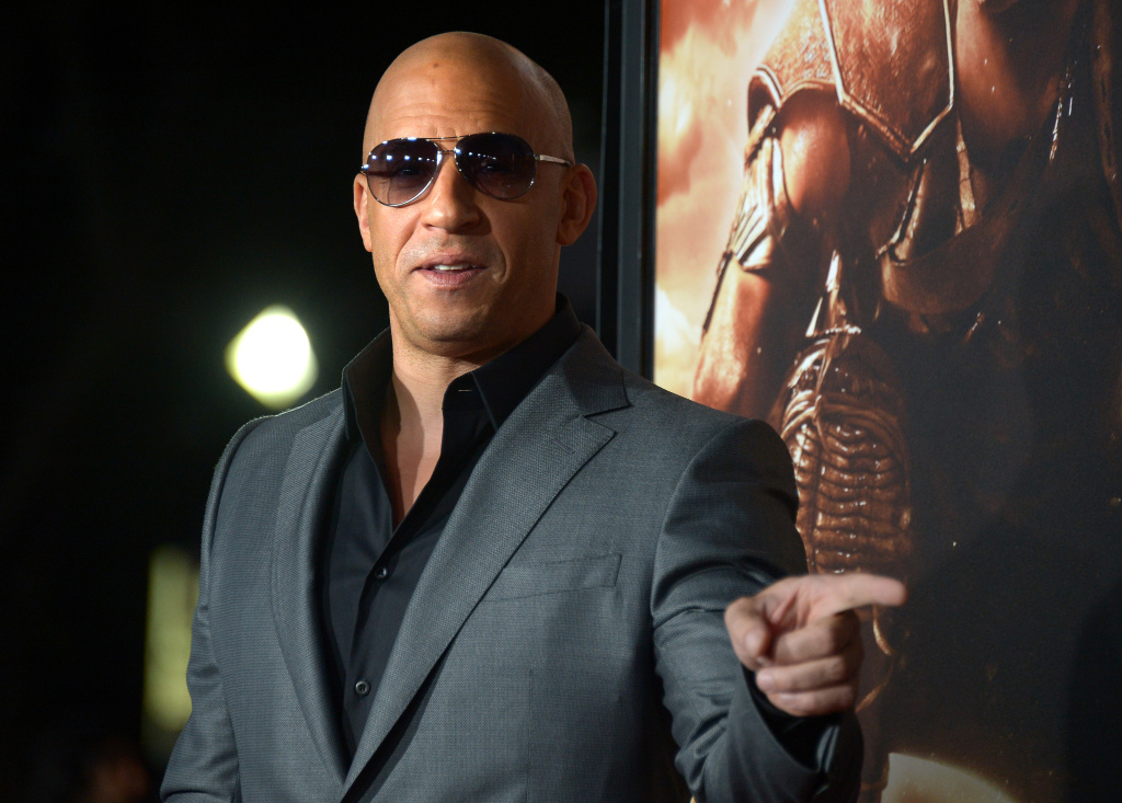Actor Vin Diesel attends the 'Riddick' premiere on August 28, 2013 in Westwood, California.