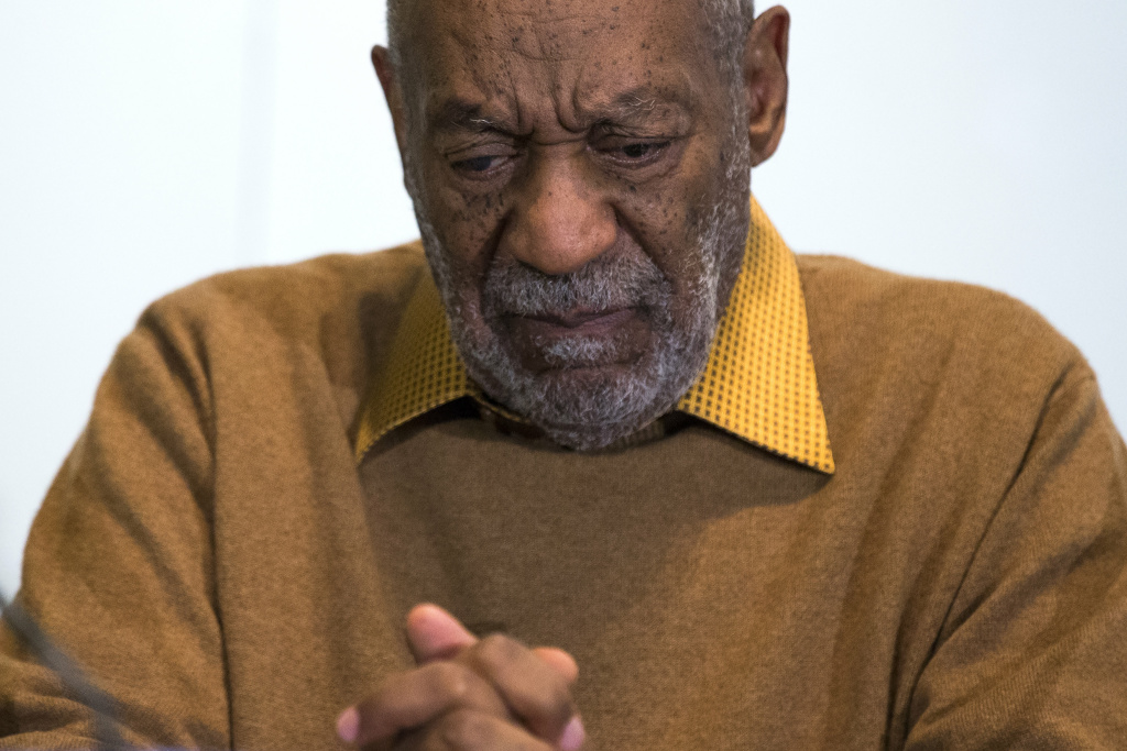 In this photo taken Nov. 6, 2014, Bill Cosby pauses during a news conference about the exhibit Conversations: African and African-American Artworks in Dialogue at the Smithsonian's National Museum of African Art in Washington.