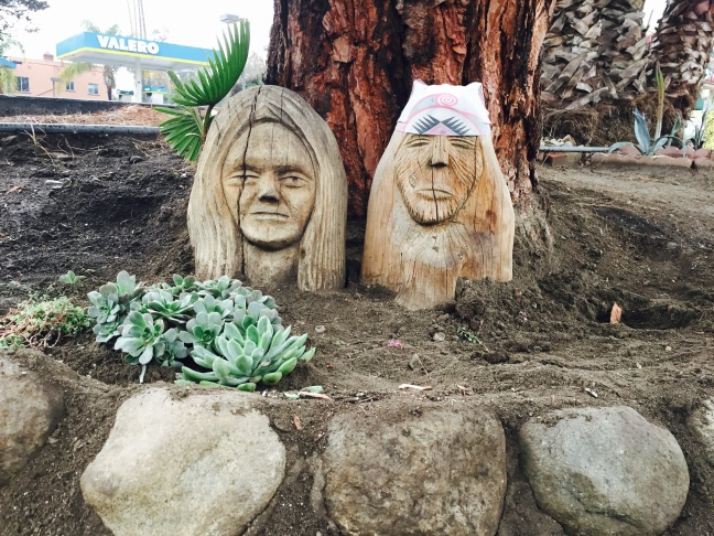 At the corner of Glendale and Glenfeliz, Jeff Harmes created an art garden completely from scratch.