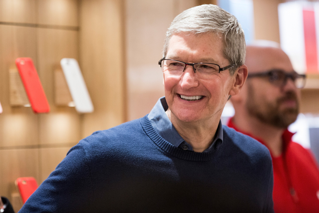 File: Apple CEO Tim Cook.