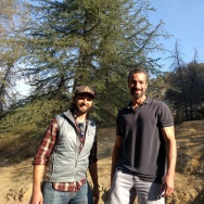 "A Martinez (r) on a hike/interview in Griffith Park with Casey Schreiner, author of the book, ""Day Hiking Los Angeles."""
