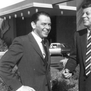 Frank Sinatra and then-presidential candidate John F. Kennedy in February 1960.