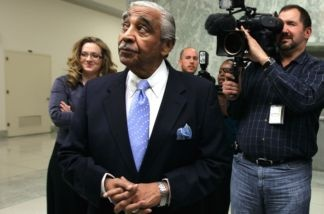 U.S. Rep. Charles Rangel (D-NY) is surrounded by members of the media as he leaves his office to buy lunch on Capitol Hill on Dec. 2, 2010 in Washington, D.C. Later that afternoon, members of the House voted 333-79 to censured Rangel after he was found guilty of 11 ethical violations by the House Ethics Committee.