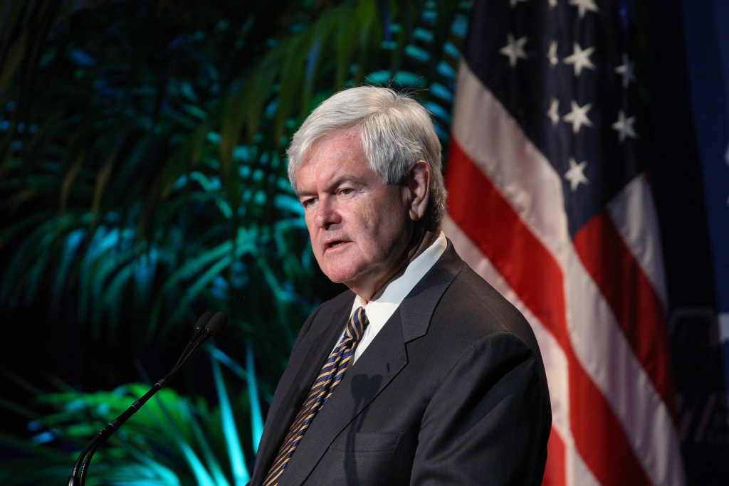 Republican presidential candidate and former Speaker of the House Newt Gingrich.