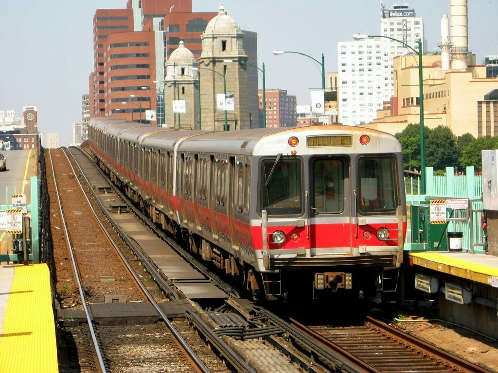 File photo of a Massachusetts Bay Transportation Authority (MBTA) Red Line train in Boston, Massachusetts. Investigators are trying to figure out why a train left a station without an operator on Dec. 10, 2015.