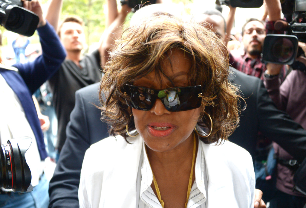 Rebbi Jackson, sister of the late pop star Michael Jackson, arrived at Los Angeles Superior Court where the trial of Katherine Jackson and Michael's children against concert promoter AEG Live is being held at Los Angeles Superior Court on April 29, 2013 in Los Angeles, California.