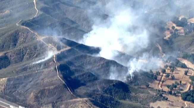 A fire burning in Castaic Monday afternoon, May 13, 2013.