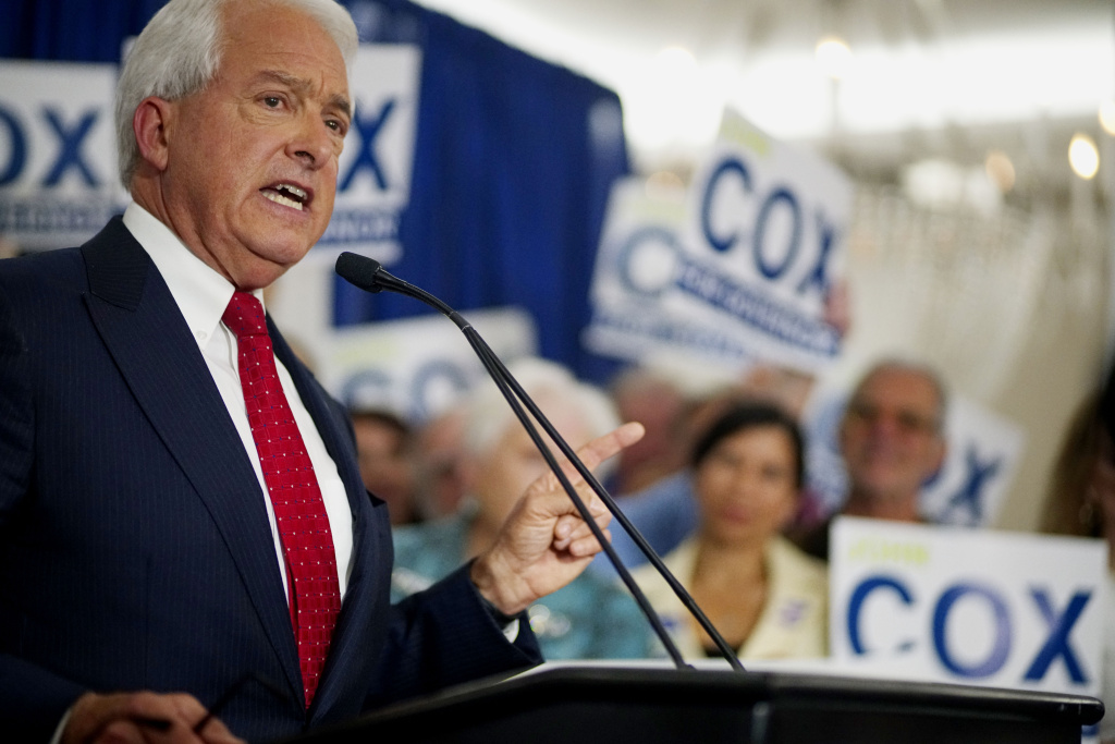 California GOP Gubernatorial Candidate John Cox speaks during an election eve party at the U.S. Grant Hotel on June 5, 2018 in San Diego. Cox, a businessman from Rancho Santa Fe, CA, is the leading Republican candidate for governor of California.